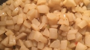 chopped turnips